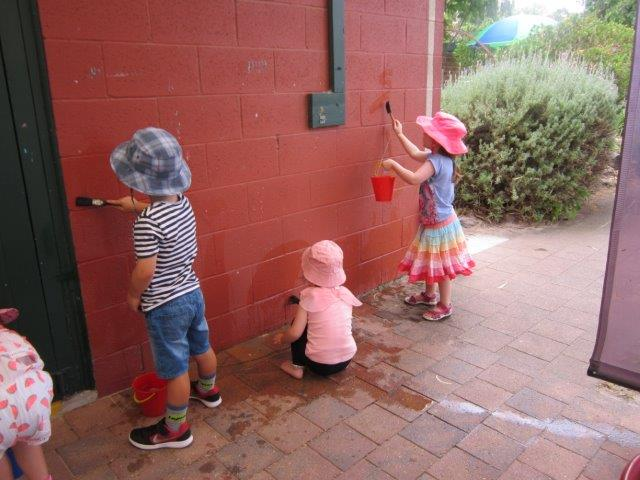 Painting our kindy